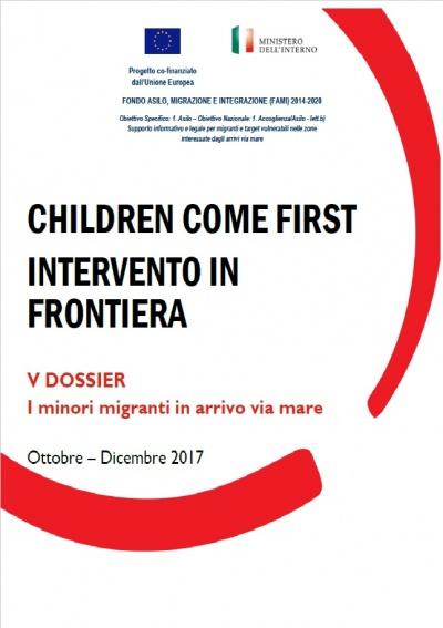 V dossier children come first intervento di frontiera