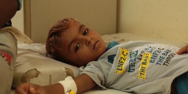 Bambino Yemen in Ospedale